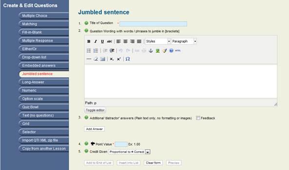 King Products - LMS King Professional - Jumbled Sentences   Joomla