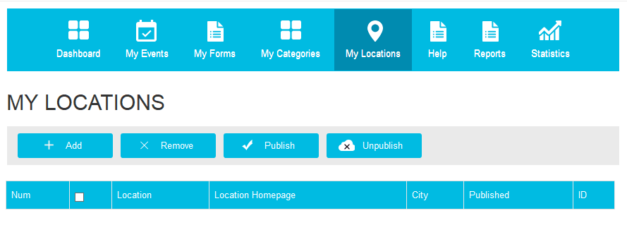 mylocations list